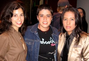 Jenna Bari, Soledad Herrada and Diana Mera at 'druthers screening