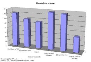 Latino online usage