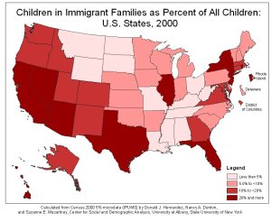 Children in Immigrant Families as Percent of All Children