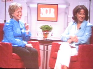 Senator Hillary Clinton and Monica Lozano