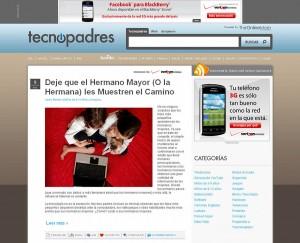 TecnoPadres.com homepage