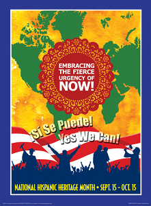 2009 Hispanic Heritage Month poster for sale at Diversity Graphics