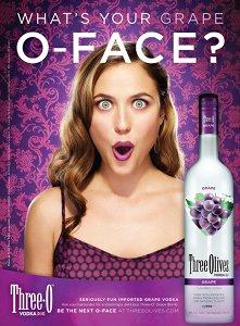 Three Olives Vodka Grape print ad
