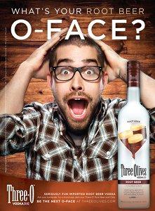 Three Olives Vodka Root Beer print ad