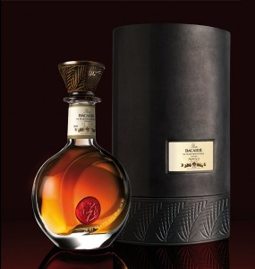 Bacardi decanter and packaging