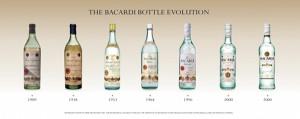 Bacardi bottles evolution