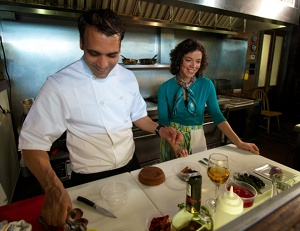 Chef Carlos Rodriguez with Margarita Martinez